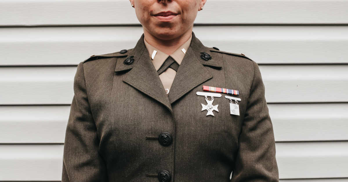 Person in Military Uniform